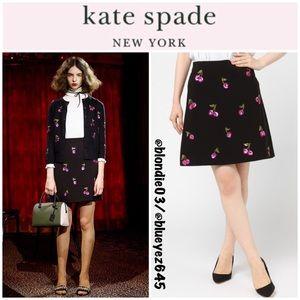 Kate Spade sequin cherries skirt 10 NWT